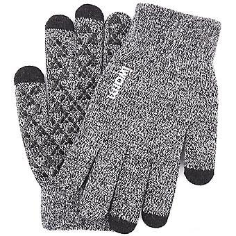 Touch Screen Knit Gloves Winter Autumn Men Women Thicken Mitten Warm Gloves