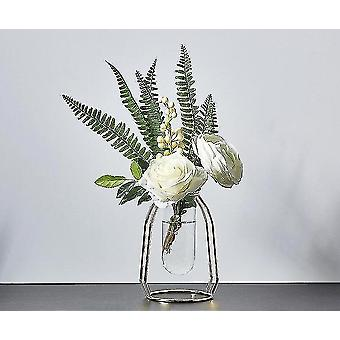 Vases nordic style gold plated eco friendly metal decor vases with flowers golden height 16cm7