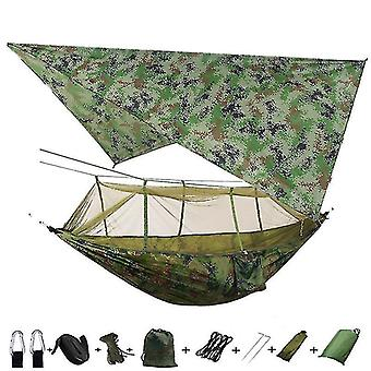 Hammocks outdoor mosquito net parachute portable camping hammock with rain fly tarp nylon hammocks camping