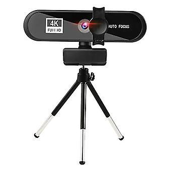 Microphones 4k pc webcam autofocus usb web camera with mic