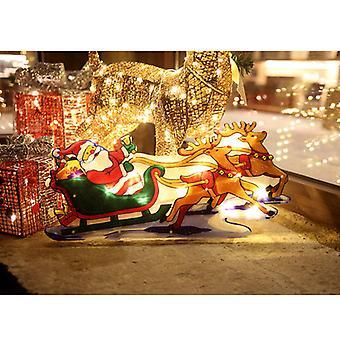 Mimigo Décoration de Noël Fenêtre éclairée Suspendue Dcor Led Lumières de Noël avec crochet de ventouse 3x Aaa Batterie alimentée pour la fête de Noël Showcase Show