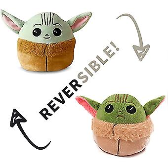 Baby Yoda Doble cara Flip Peluche Juguetes De Peluche