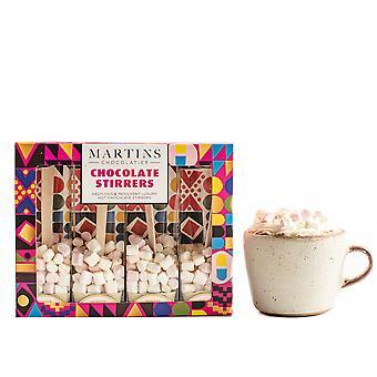 Martin's Chocolatier Hot Chocolate Stirrers (3 Boxes) White Chocolate | Hot Chocolate Spoons with Marshmallows | Flavoured Chocolate Drink | Belgian Chocolate Gift Set
