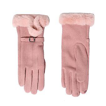 Téli meleg és hideg védőkesztyű rózsaszín