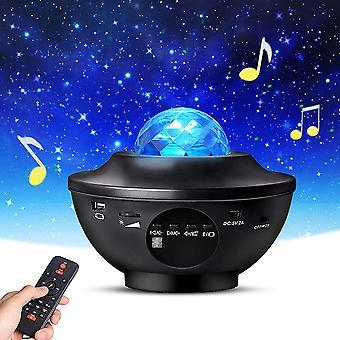 Laser Light Star -projektioValo YmpäristöValo Bluetooth Musiikki USB Full Star Liekki Vesi Kuvio Led Yövalo
