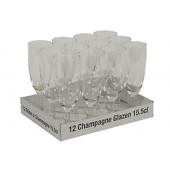 12 Stück Sektglas Set 15,5 cl für Cocktailshaker Barware Gläser