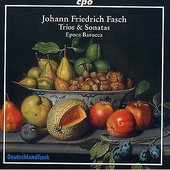 J.F. Fasch - Johann Friedrich Fasch: Importación de USA de tríos y Sonatas [CD]