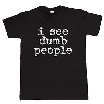 Je vois des gens muets, T-Shirt drôle de l'homme - Grand cadeau pour papa