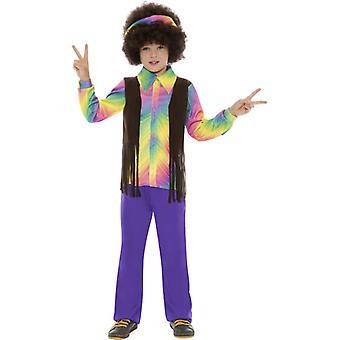 Hippie fantasia anos 60 hippie jovem rapaz aroma criança costume 4-5 anos