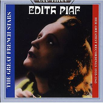 Edith Piaf - sa plus grands enregistrements 1935-1943 [CD] USA import