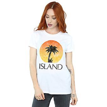 Island Records kvinders nødlidende Logo kæreste Fit T-Shirt