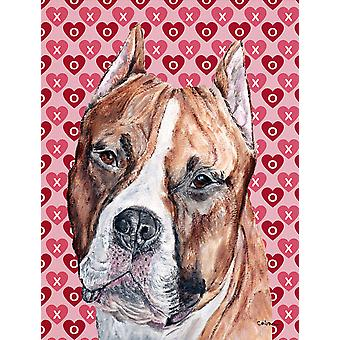 Staffordshire Bull Terrier Staffie Hearts and Love Flag Garden Size