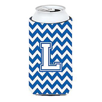 حرف L شركة شيفرون الأزرق والأبيض صبي طويل القامة المشروبات عازل نعالها