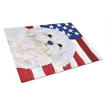 Carolineøerne skatte SS4044LCB USA amerikanske Flag med Maltesisk glas skære vildsvin