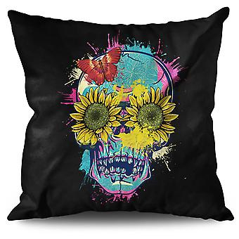 Sun Flower Sugar Linen Cushion 30cm x 30cm | Wellcoda