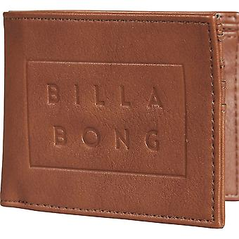 Billabong Die Cut Faux Portefeuille en cuir à Tan