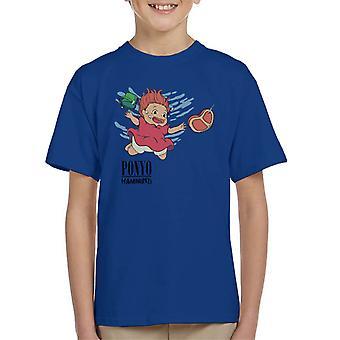Ponyo Hammind Nevermind Nirvana Cover Kid's T-Shirt