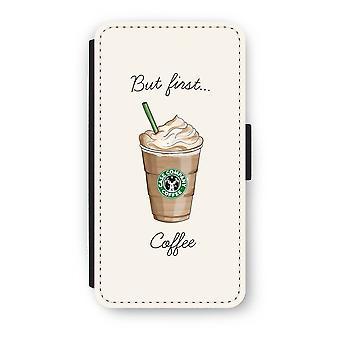 最初のコーヒーが X フリップ ケース - iPhone