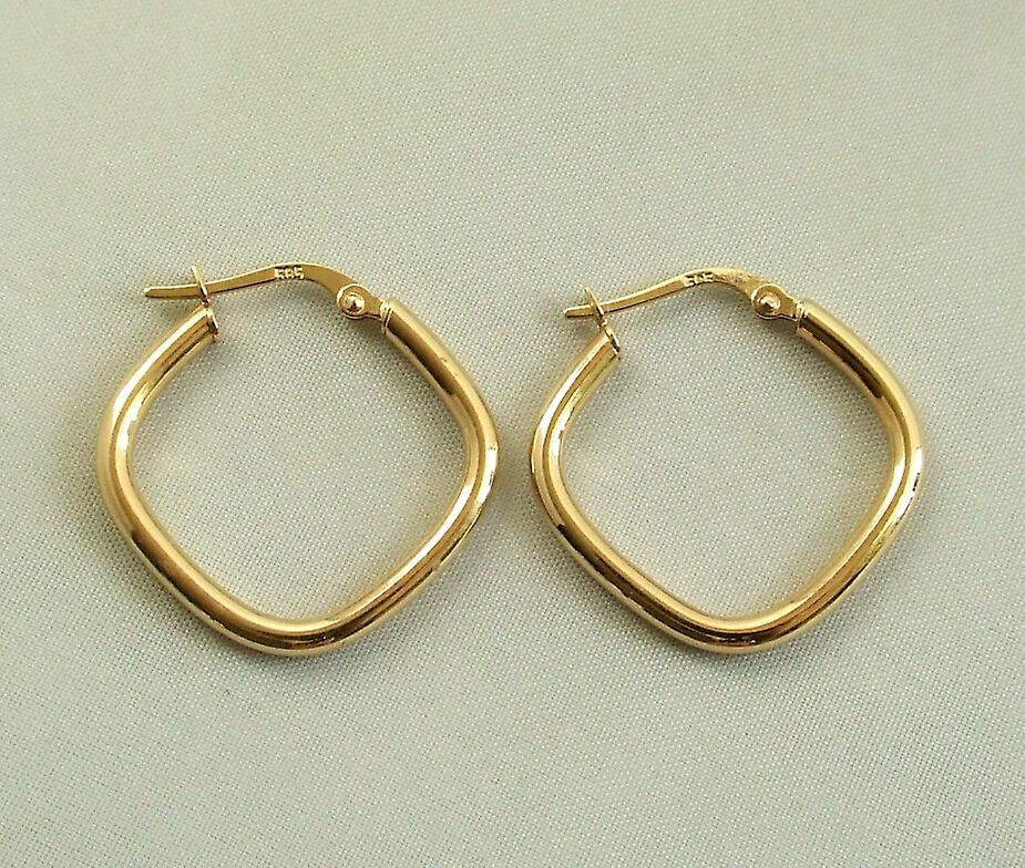 Golden diamonds earrings