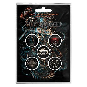 Meshuggah Badge Pack Vilent sömn anledning Band logotyp officiella 5 x PIN-knappen