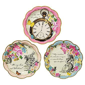 Truly Alice Dainty Plates x 12 Alice in Wonderland Mad Hatters