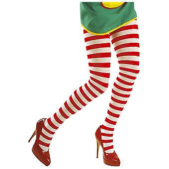 Stockings and leg accessories  White-Red Striped Pantyhose