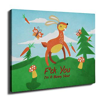 Deer Roe Bunny Cool Wall Art Canvas 40cm x 30cm | Wellcoda