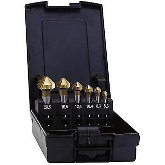 Exact 05568 Countersink set 5-piece 6.3 mm, 10.4 mm, 16.5 mm, 20.5 mm, 25 mm HSS TiN Cylinder shank 1 Set