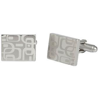 Simon Carter West End 60s Pattern Cufflinks - Silver