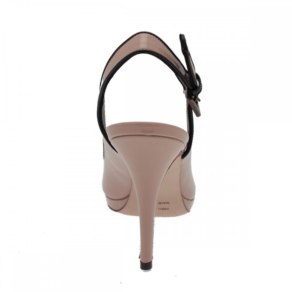 Renata Slingback Platform Sandal With Peep Toe