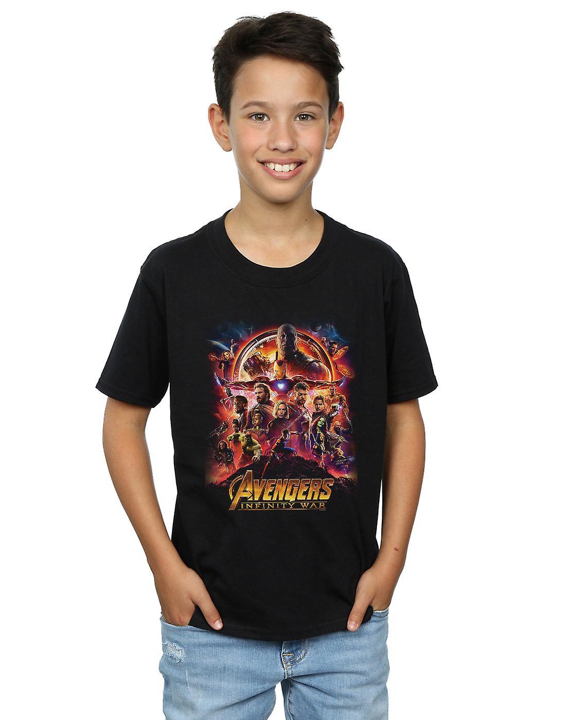 Marvel Boys Avengers Infinity War Movie Poster T-Shirt