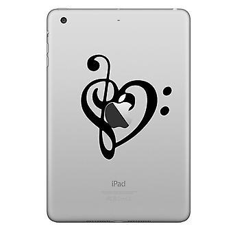Chic stylowy kapelusz książę decal naklejka iPad itp serce Uwaga