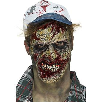 Foam Latex Zombie Face Prosthetic, Brown, with Adhesive