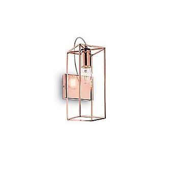 Ideale Lux - Volt koperen afwerking Wall Light met helder glas IDL137117