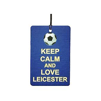 Mantenha a calma e amo o refrogerador de ar do carro de Leicester