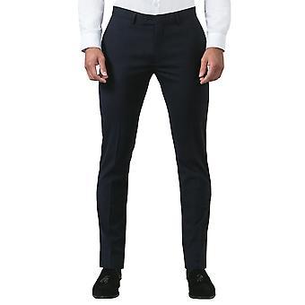 Baten Londen Mens Navy Suit broek Slim Fit