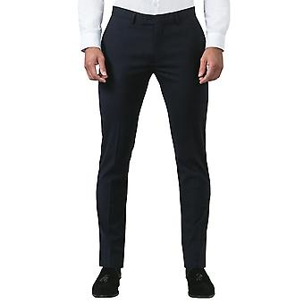 Avail London Mens Navy Suit Trousers Slim Fit