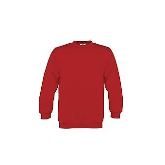 B&C Childrens/Kids Plain Crew Neck Sweatshirt (Pack of 2)