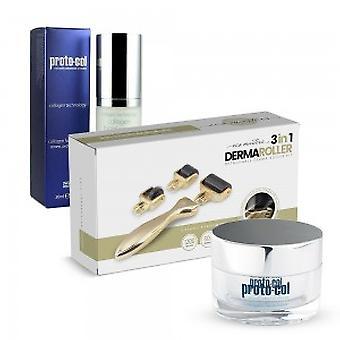 Collagen Super Pack  - Collagen Facial Serum, Collagen Facemask and 3 in 1 Derma Roller