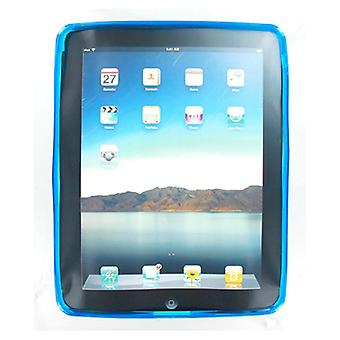 Technocel High Gloss Silicone Cover Case for iPad 1 - Blue (Bulk Packaging)