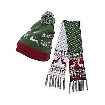 Urban Classics Unisex muts en sjaal set kerst