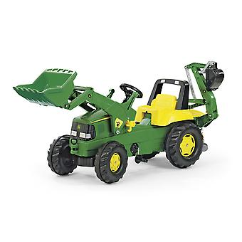 Licensed Rolly Junior John Deere Tractor with Frontloader & Rear Excavator