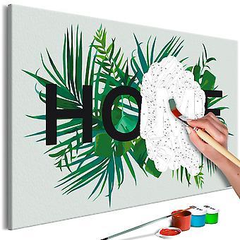 Malen nach Zahlen - Home on the Leaves