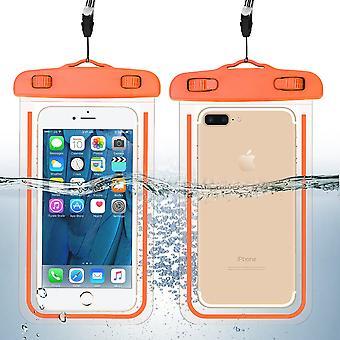 Wasserdichtes Handy-Taschenglühen im dunkel-orange