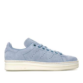 Womens adidas Originals Stan Smith New Bold Trainers In Raw Grey