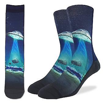Socks - Good Luck Sock - Men's Active Fit - UFO Abduction (8-13) 4090