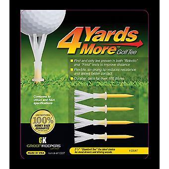 4 meter mer Golf Tees standard gul 2 3/4 tommer lengde