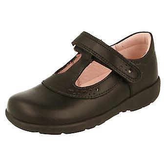 Girls Start Rite Black Leather Formal/School Shoes Pre-Trinity Size 7H UK