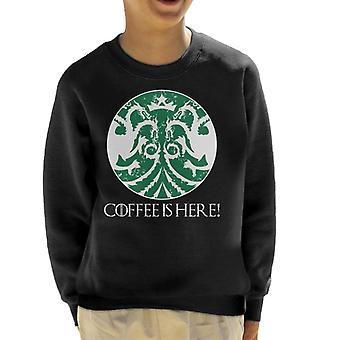 Coffee Is Coming Game Of Thrones Kid's Sweatshirt
