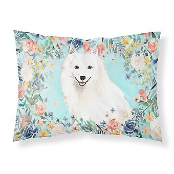 Carolines Treasures CK3422PILLOWCASE Giapponese Spitz Tessuto Standard Pillowcase